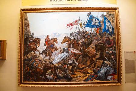Battle of Myriokephalon, 1176 CE Askeri Military Museum in Istanbul, Turkey Stok Fotoğraf - 32831269