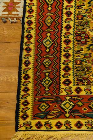 oriental rug: Kayseri Buyun rugs  in a carpet showroom in  Cappadocia, Turkey