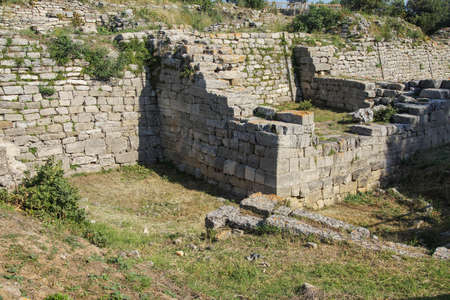 Remains of the walls of Troy, possibly Priams city of the Iliad, . Turkey
