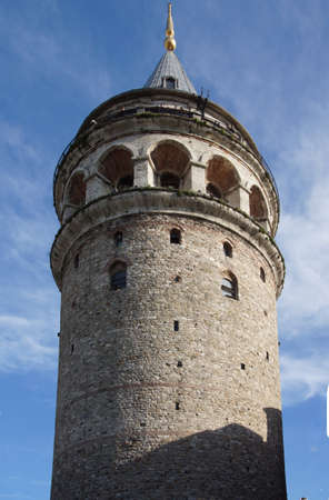 터키 이스탄불에서 원래 화재 감시탑으로 지어진 갈라 타 타워