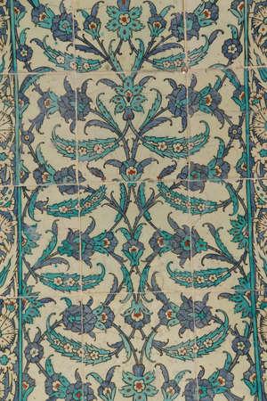 iznik: ISTANBUL - MAY 18, 2014 - Iznik mosaic tiles in the harem  in Topkapi Palace,  in Istanbul, Turkey