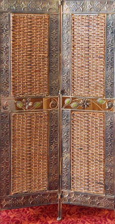 Woven screen in the  Suktan Isa tomb and madrasa,  Mardin,  Turkey