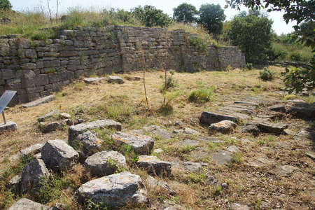 homer: Remains of the buildings near the agora of Troy, possibly Priams city of the Iliad, . Turkey