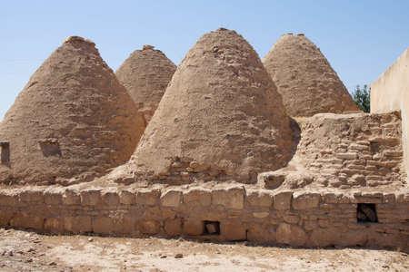 Traditional beehive mud brick desert houses, Harran near the Syrian border, Turkey Stok Fotoğraf
