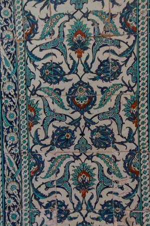 iznik: ISTANBUL, Turkey  - MAY 18, 2014 - Intricate Iznik mosaic tile work  for the tomb of Selim II,  in Istanbul, Turkey