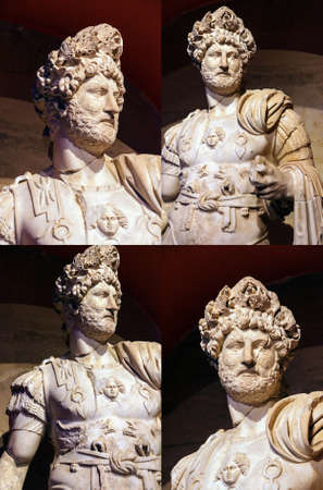 hadrian: Roman emperor Hadrian, 2nd century CE, statue from Perge  in  Turkey