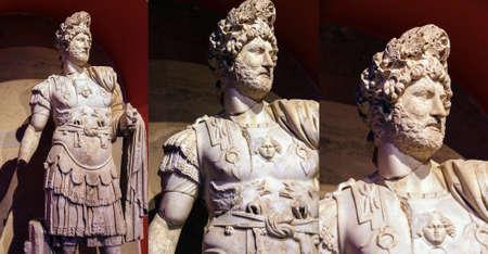 hadrian: Emperador romano Adriano, segundo siglo CE, estatua de Perge en Turqu�a