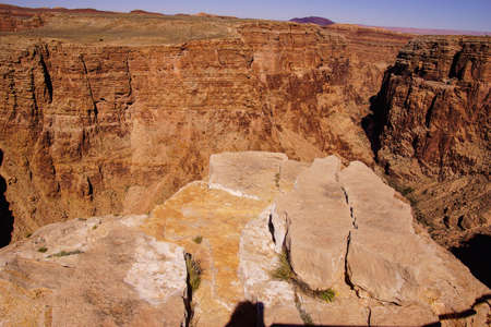 stark: Stark dark colors of the rim of the Little Grand Canyon of the Colorado River, Arizona