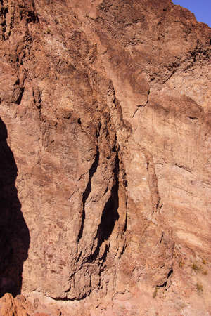cliff face: Rugged cliff face, dynamited during construction of the Hoover Dam on the border of Arizona and Nevada Stock Photo