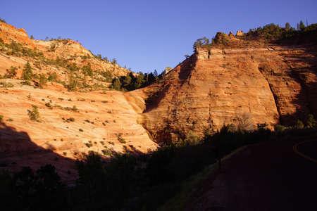 ridges: Montagne di arenaria a strati e crinali, Zion National Park, Utah