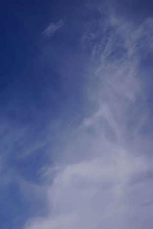 cirrus: High cirrus clouds, blue sky, desert  Palm Springs, California