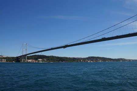 The Bosphorus bridge connects European and Asian parts of Istanbul, Turkey Zdjęcie Seryjne