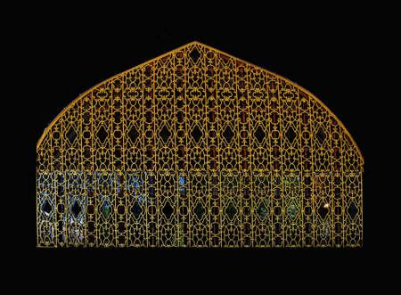 divan: Puerta de reja de oro en Divan del sult�n en el palacio de Topkapi, en Estambul, Turqu�a