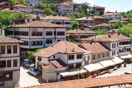 country house style: Old style Turkish konak country houses with tiled rooves in  Safranbolu, Turkey