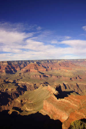 Afternoon light on the Grand Canyon from along the South Rim trail at the Grand Canyon National Park, Arizona