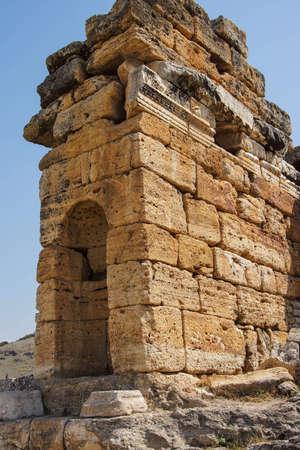 necropolis: Mausoleum in the necropolis  outside  Hierapolis, Turkey
