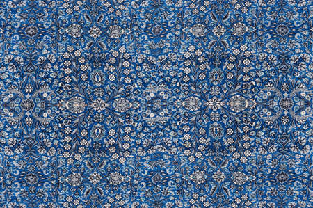 oriental rug: Abstract patterns based on Finely woven silk carpets  in a carpet showroom in  Cappadocia, Turkey