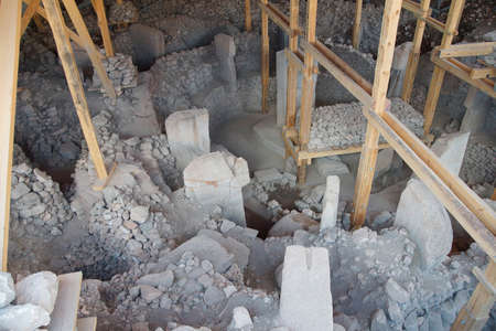 southeastern: Archaeological site of ancient town of  Gobekli Tepe (Pot-belly Hill) in Southeastern Turkey