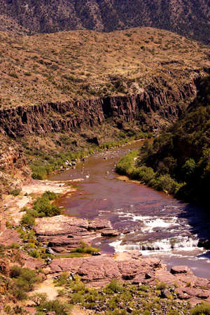 whitewater: Whitewater in the desert gorge of  Salt River Canyon, Arizona Stock Photo