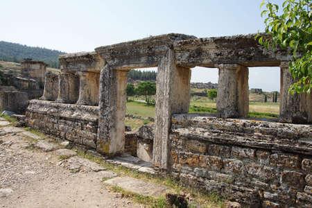 hierapolis: Monumental tomb in the necropolis of  Hierapolis,  Turkey Stock Photo