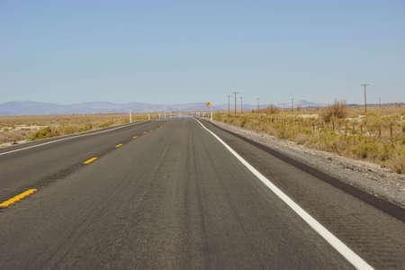 nevada: Empty highway in high desert  Nevada Stock Photo