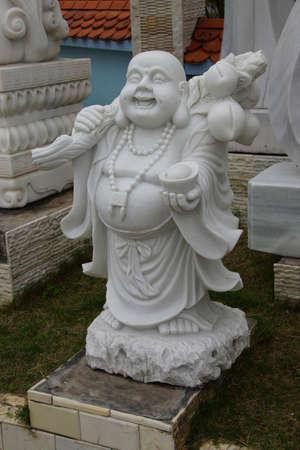 Laughing Buddha statue, Danang,  Vietnam Stock fotó