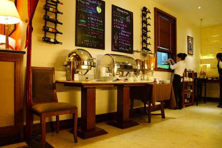 essence: HANOI, VIETNAM - FEB 1, 2015 - Breakfast buffet in Essence Hotel,  Hanoi,  Vietnam