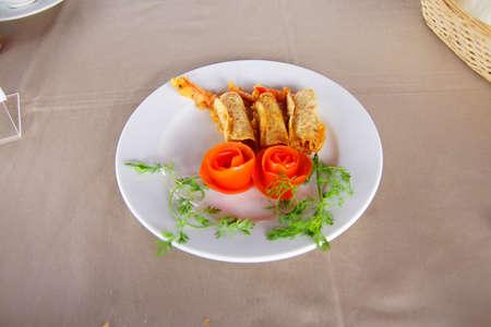 Tom Chien Mon, crispy fried shrimp with taro,  Mekong River delta,  Vietnam