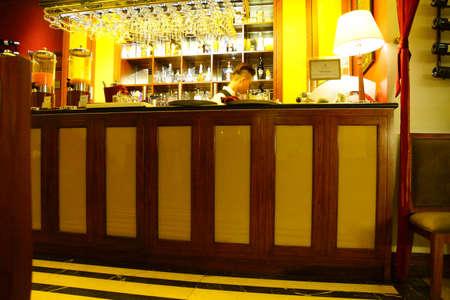 essence: HANOI, VIETNAM - FEB 1, 2015 - Restaurant bar in Essence Hotel,  Hanoi,  Vietnam
