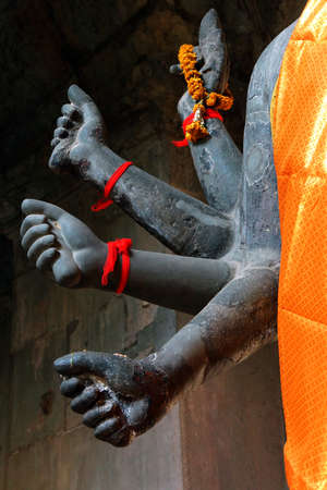 Multiple arms of Vishnu in Gateway chamber of  Angkor Wat,  Cambodia Stock fotó