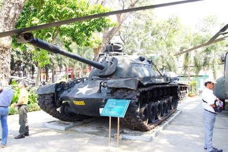 remnants: SAIGON - FEB 5, 2015 - American M48 A3 battle tank from the Vietnamese war era,  War Remnants Museum, Saigon (Ho Chi Minh City),  Vietnam