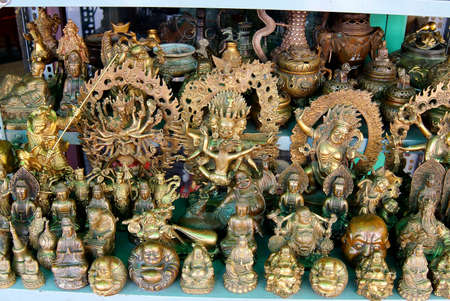 Hindu gods and Buddha statues and figurines, Antiques market, Saigon (Ho Chi Minh City),  Vietnam