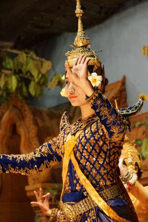 apsara: SIEM REAP, CAMBODIA - FEB 14, 2015 - Apsara dancer performs at an evening recital,  Siem Reap,  Cambodia