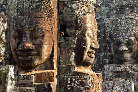 Gezicht toren van de Tempel Bayon, Angkor Thom, Cambodja