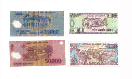 foreign currency: Vietnam dong bills - Foreign currency from around the world