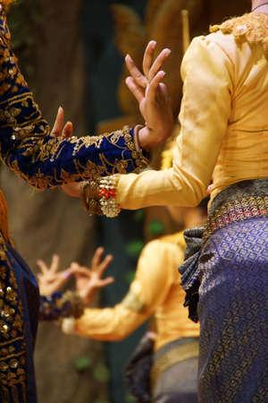Détail, positions rituelles de main de danseurs apsaras, Siem Reap, Cambodge Banque d'images - 38682336