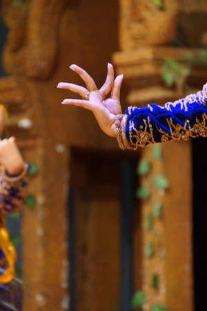 Detail, ritual hand positions of apsara dancers,  Siem Reap,  Cambodia