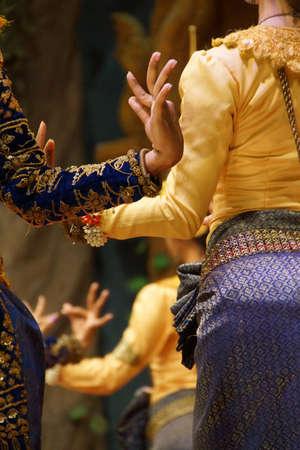 apsara: Detail, ritual hand positions of apsara dancers,  Siem Reap,  Cambodia