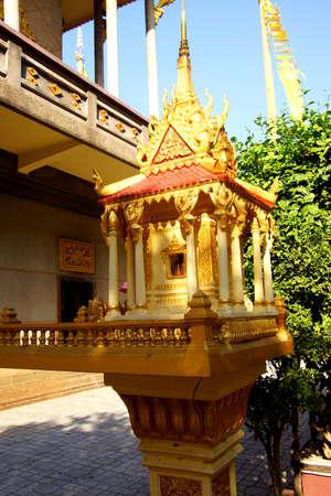 stupas: Buddhist  stupas  outside the Langka Pagoda  temple, Phnom Penh Cambodia