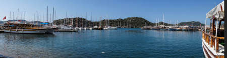 secluded: Panorama of the secluded harbor of  Kekove,  Turkey