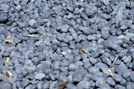 cobble: Cobbles, smooth and rounded, form patterns on the beach, Cobble Beach, Yaquina Head,  Oregon Coast Stock Photo