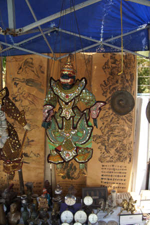 burmese: Traditional  Burmese puppet, central market of  Yangon (Rangoon),  Myanmar (Burma)