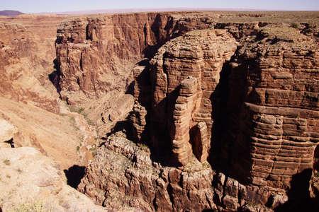 colorado river: Stark dark colors of the rim of the Little Grand Canyon of the Colorado River, Arizona
