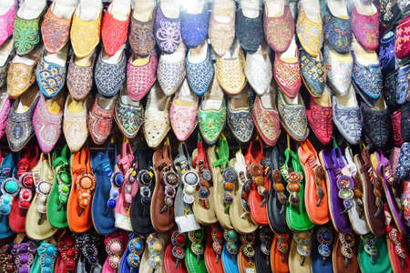 Shoes and sandals on display, Ben Thanh market, Saigon (Ho Chi Minh City),  Vietnam