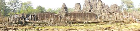 bayon: Outer walls of  Bayon, Angkor Thom,  Cambodia