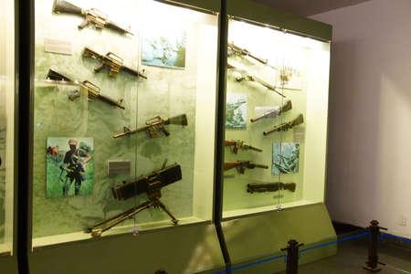 remnants: SAIGON - FEB 5, 2015 - Weapons used during the Vietnamese War,  War Remnants Museum, Saigon (Ho Chi Minh City),  Vietnam