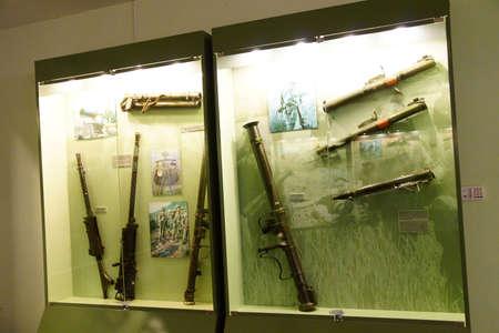 SAIGON - FEB 5, 2015 - Weapons used during the Vietnamese War,  War Remnants Museum, Saigon (Ho Chi Minh City),  Vietnam