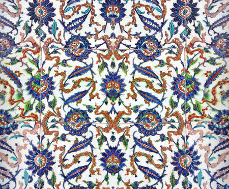 iznik: ISTANBUL, TURKEY  - MAY 18, 2014 - Elaborate Iznik mosaic tile work of the Harem  in Topkapi Palace,  in Istanbul, Turkey Editorial