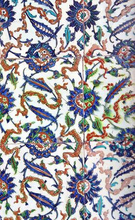 elaborate: ISTANBUL, TURKEY  - MAY 18, 2014 - Elaborate Iznik mosaic tile work of the Harem  in Topkapi Palace,  in Istanbul, Turkey Editorial