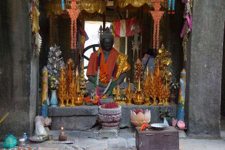 Het standbeeld van Boedha met dienstenaanbod, Banteay Kdei, Cambodja